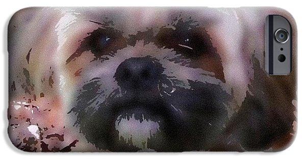 Buy Dog Digital iPhone Cases - Shih Tzu Watercolor iPhone Case by Gail Matthews