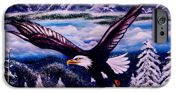 American Eagle Paintings iPhone Cases - Shiloh iPhone Case by Adele Moscaritolo