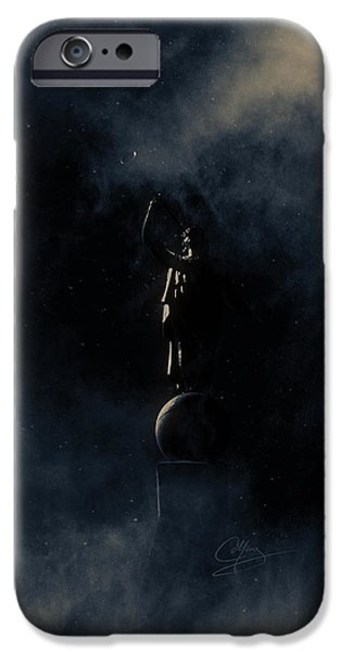Night Angel iPhone Cases - Shine Forth in Darkness iPhone Case by Greg Collins