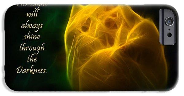 Jordan iPhone Cases - Shine Through The Darkness iPhone Case by Jordan Blackstone