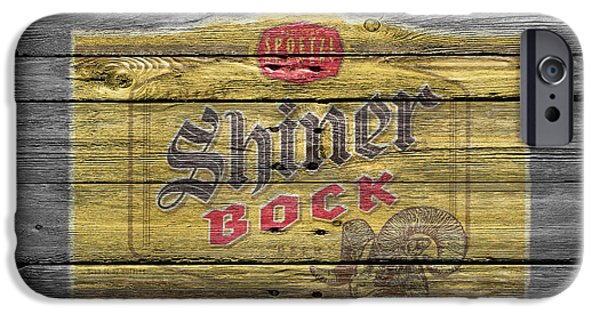 Saloons iPhone Cases - Shiner Bock iPhone Case by Joe Hamilton