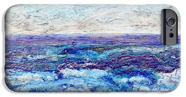 Ocean Reliefs iPhone Cases - Shining Sea iPhone Case by Regina Valluzzi