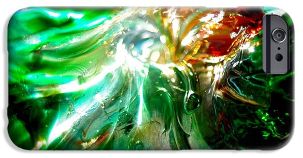 Close Up Glass iPhone Cases - Shining Through the Glass II iPhone Case by Kitrina Arbuckle