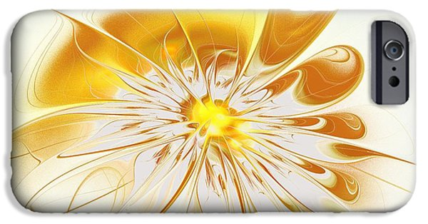 Abstracts iPhone Cases - Shining Yellow Flower iPhone Case by Anastasiya Malakhova