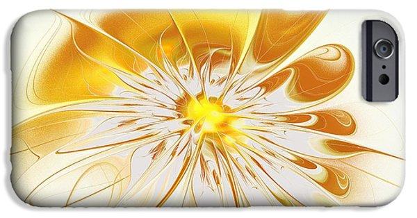 Bloom iPhone Cases - Shining Yellow Flower iPhone Case by Anastasiya Malakhova