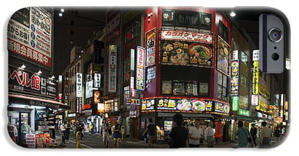 Shinjuku iPhone Cases - Shinjuku Night iPhone Case by David Bearden