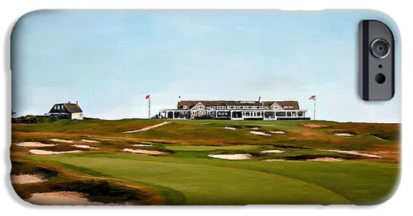 Scott Melby iPhone Cases - Shinnecock Hills Golf Club iPhone Case by Scott Melby