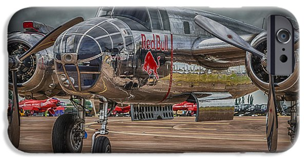 North American B-25j Mitchell iPhone Cases - Shiny Mitchell iPhone Case by Gareth Burge