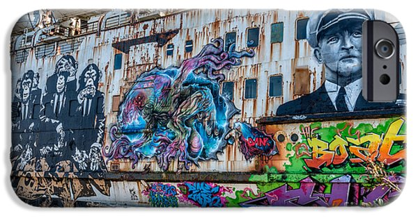 Hear iPhone Cases - Ship Art iPhone Case by Adrian Evans