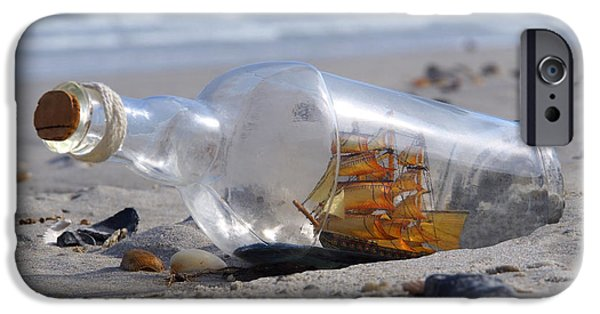 Ship iPhone Cases - Ship in a Bottle iPhone Case by Mike McGlothlen