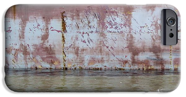 Rust iPhone Cases - Ship Rust 3 iPhone Case by Anita Burgermeister