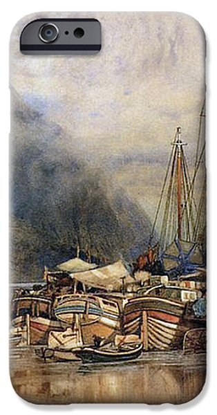 Shipping on the Hudson River iPhone Case by Samuel Colman