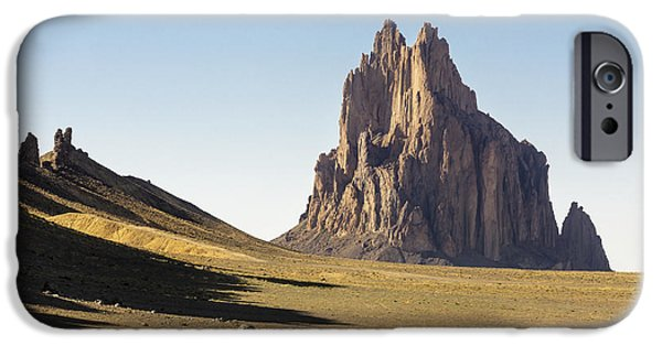 Red Rock iPhone Cases - Shiprock 3 - North West New Mexico iPhone Case by Brian Harig