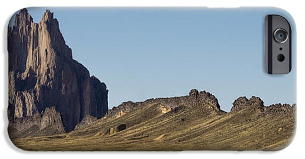 Nation iPhone Cases - Shiprock Panorama - North West New Mexico iPhone Case by Brian Harig