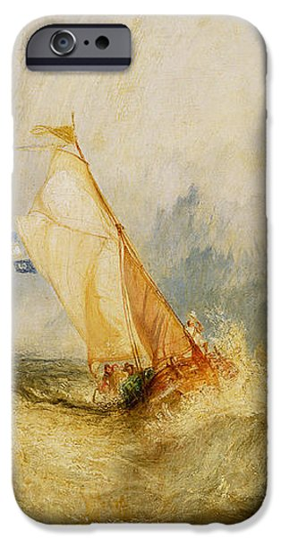 Ships a Sea Getting a Good Wetting iPhone Case by Joseph Mallord