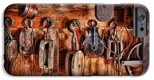 Fishing Shack iPhone Cases - Ships Rigging iPhone Case by Lee Dos Santos