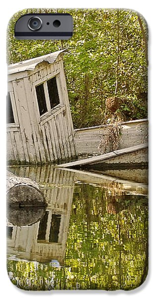 Shipwreck Silver Springs Florida iPhone Case by Christine Till