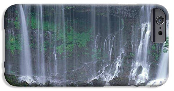 Overhang iPhone Cases - Shiraito Falls, Fujinomiya, Shizuoka iPhone Case by Panoramic Images
