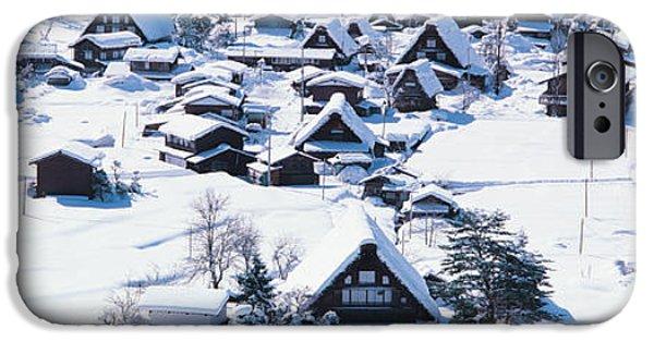 Snow Drifts Photographs iPhone Cases - Shirakawagou Gifu Japan iPhone Case by Panoramic Images