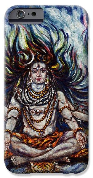 Hindu Goddess iPhone Cases - Shiv Ganga iPhone Case by Harsh Malik