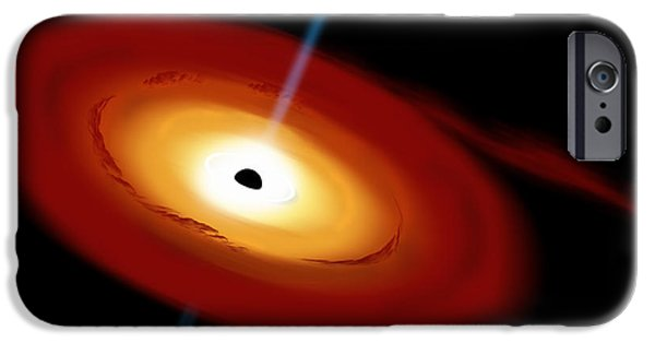 Jet Star Mixed Media iPhone Cases - Black Hole 3b iPhone Case by Marc Ward