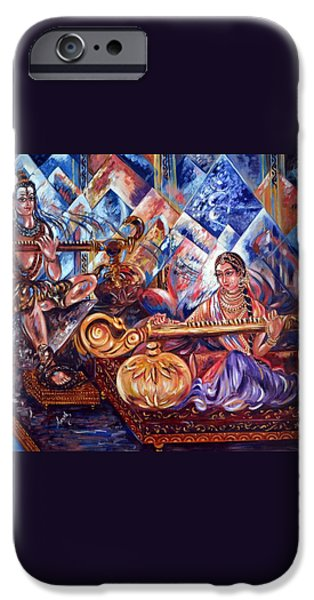 Shiva Parvati iPhone Case by Harsh Malik