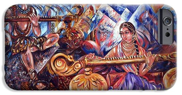 Hindu Goddess iPhone Cases - Shiva Parvati iPhone Case by Harsh Malik