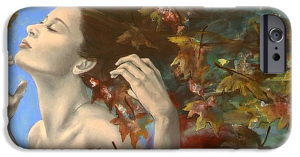 Emotion Paintings iPhone Cases - Shivers iPhone Case by Dorina  Costras