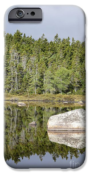 Serenity Scenes iPhone Cases - Shoal Pond - White Mountains New Hampshire iPhone Case by Erin Paul Donovan