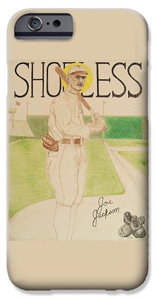 Shoeless Joe Jackson iPhone Case by Rand Swift