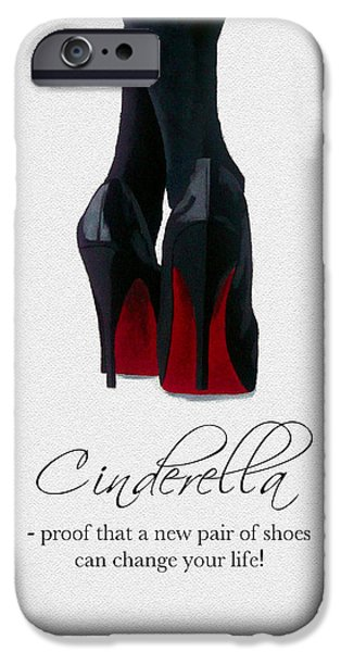 Original Mixed Media iPhone Cases - Shoes Can Change Your Life iPhone Case by Rebecca Jenkins