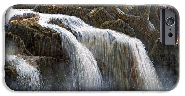 Recently Sold -  - Tree Art Print iPhone Cases - Shohola Falls iPhone Case by Gregory Perillo