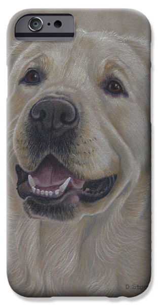 Support Drawings iPhone Cases - Shoney iPhone Case by Debbie Stonebraker