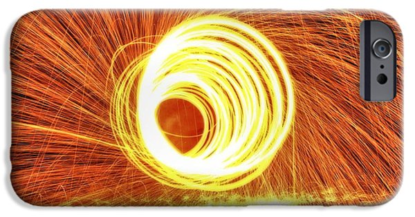 Fourth Of July iPhone Cases - Shooting Sparks iPhone Case by Dan Sproul