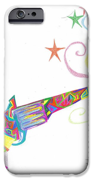 Weapon Pastels iPhone Cases - Shooting Stars iPhone Case by Hailee Johanson