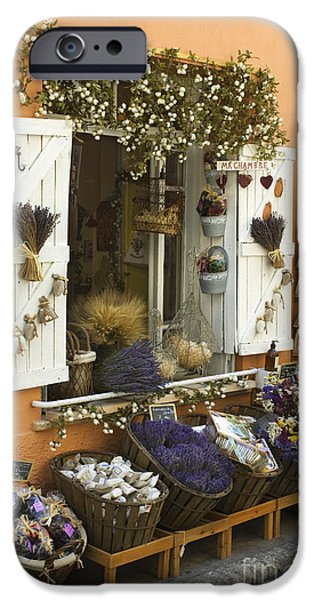 Shop Window iPhone Cases - Shop Window, France iPhone Case by John Shaw