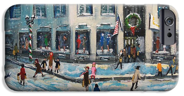 Paint iPhone Cases - Shopping at Grover Cronin iPhone Case by Rita Brown