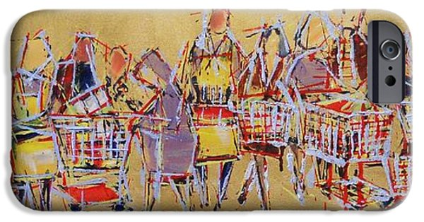 Basket iPhone Cases - Shopping Cart Tango iPhone Case by Larry Lerew