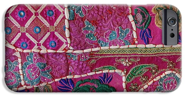 Furniture iPhone Cases - Shopping Colorful Tapestry Sale India Rajasthan Jaipur iPhone Case by Sue Jacobi