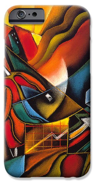 Object Paintings iPhone Cases - Shopping iPhone Case by Leon Zernitsky