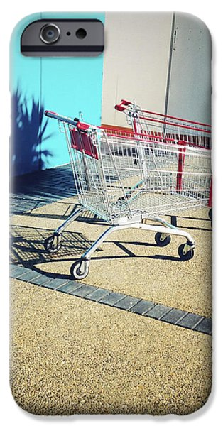 Shopping trolleys  iPhone Case by Les Cunliffe