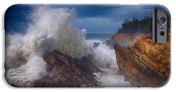 Storm iPhone Cases - Shore Acre Storm iPhone Case by Darren  White