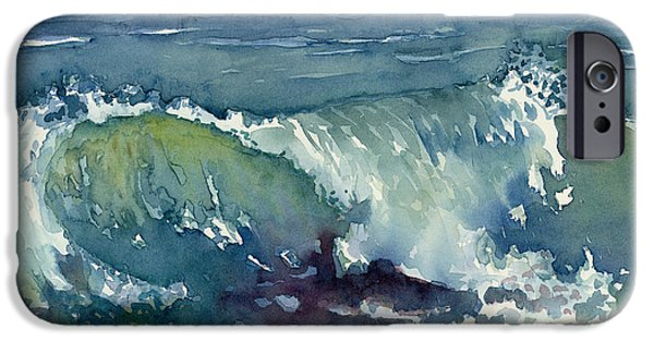 Waves Paintings iPhone Cases - Shore Break iPhone Case by Amy Kirkpatrick
