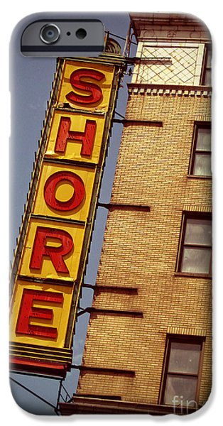 Shore Digital Art iPhone Cases - Shore Building Sign - Coney Island iPhone Case by Jim Zahniser