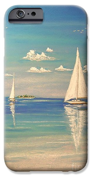 Sailing Pastels iPhone Cases - The Cays iPhone Case by The Beach  Dreamer