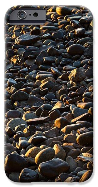 Minnesota iPhone Cases - Shore Stones iPhone Case by Steve Gadomski