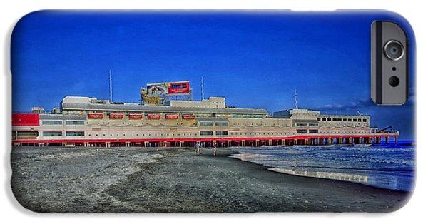 Casino Pier iPhone Cases - Shoreline of Atlantic City iPhone Case by Mountain Dreams