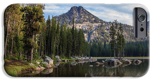 Haybale iPhone Cases - Shoreline View Of Anthony Lake iPhone Case by Robert Bales