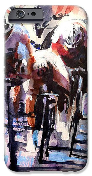 Short Sharp Sprint iPhone Case by Shirley  Peters