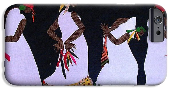 Freedom Tapestries - Textiles iPhone Cases - Shout Dance iPhone Case by Ruth Yvonne Ash